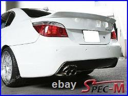 04-09 Carbon Fiber Bmw E60 M-tech M-sport 3d Style Rear Diffuser Spoiler
