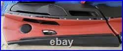 07-10 OEM BMW E92 Door Panels Sport Seats Front Rear RED Interior FULL SET