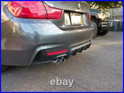 14+ Bmw F32 428i M Performance Style Mtech Rear Bumper Single Cutout Diffuser