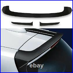 3pc Abs Rear M Sport Style Performance Roof Spoiler Wing For Bmw 1 Series F20