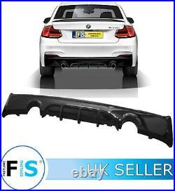 BMW 2 SERIES F22 F23 M SPORT M240i PERFORMANCE DUAL REAR DIFFUSER GLOSS BLACK