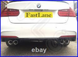 BMW 3 M SPORT F30 Custom Stainless Steel Exhaust Rear Dual System L/T WARRANTY