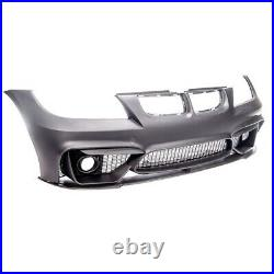 BMW 3 series E90 E91 M4 sport style look front bumper & splitter 05-08 fogs UK