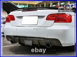 BMW E92 E93 Coupe Convertible V Type Carbon Fiber Rear Bumper Diffuser 335i