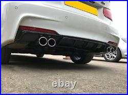 BMW F30 F31 saloon touring quad style m3 look sports 4 tip exhaust installed
