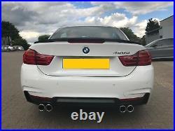 BMW F32 F33 F36 quad 4 Tip Sport Exhaust Conversion M4 Look