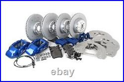 BMW OEM F15 X5 X6 Blue Brembo Sports Brake Kit Pads Calipers Rotors Front & Rear