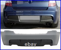 Bmw 1 series E81 E87 M sport style look rear bumper & diffuser for quad exhaust