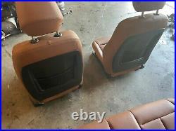 Bmw 12-18 F30 Seats Sport Saddle Brown Mtech Heated Fold Down Seat Set Oem 82k