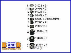 Bmw 3 Series E46 Rear Control Arm Mount Trailing Subframe Bush Kit Set Febi A984