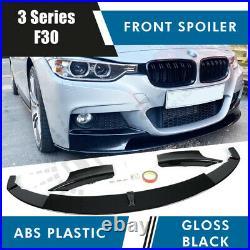 Bmw 3 Series F30 F31 Front Diffuser Splitter Lip Spoiler Side Gloss Black M