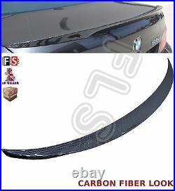 Bmw 5 Series Carbon Fiber Look F10 M-sports Rear Trunk Boot Lip Spoiler 10-16