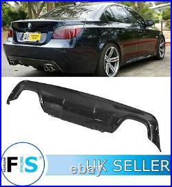 Bmw 5 Series E60 E61 M Sport Rear Bumper Diffuser Splitter Valance Gloss Black