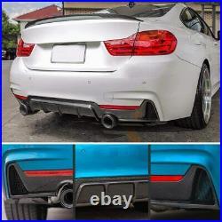 Bmw F32 F33 F36 4 Series Performance M Sport Rear Diffuser Carbon Fibre Look