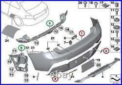Bmw New Genuine F20 F21 10-14 M Sport Bumper Diffuser With Double Muffler Hole