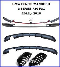 Bmw Splitter Diffuser Rear F30 F31 3 Series M Sport Performance Front Bumper