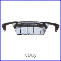 CARBON LOOK For BMW F10 M Sport 2011-2016 Bumper Rear Quad Diffuser Lip M5 Style
