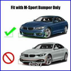CARBON LOOK For BMW F32 F33 F36 4 Series M Sport Front Splitter Spoiler Lip