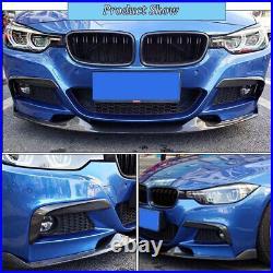 Carbon Fiber Front Bumper Upper Fog Canard Splitter For BMW F30 F31 F35 M Sport
