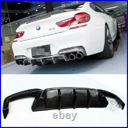 Carbon Fiber P Style Rear Bumper Diffuser for BMW F06 F12 F13 M Sport & M6