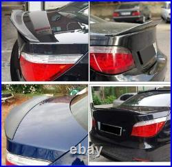 Carbon Fiber Rear Trunk Boot Spoiler Wing Lip For BMW E60 525i M-Sport M5 Sedan