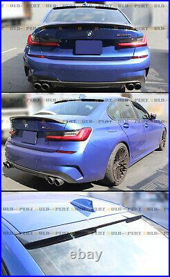 FOR 19-2021 BMW G20 320i 330i M340i G80 M3 CARBON FIBER REAR WINDOW ROOF SPOILER