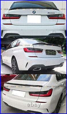 FOR 19-21 BMW G20 3 SERIES 330i G80 M3 CS STYLE CARBON FIBER TRUNK SPOILER WING