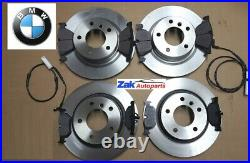 FOR BMW 320D E90 M Sport 05-11 Front And Rear Discs & Pads + 2 BRAKE Sensors