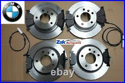 FOR BMW 320D E90 M Sport 05-11 Front And Rear Discs & Pads Including 2 Sensors