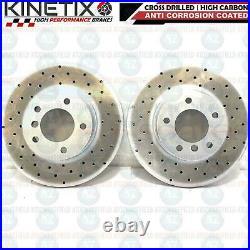 FOR BMW 320d E90 E91 E92 E93 M SPORT FRONT DRILLED BRAKE DISCS MINTEX PADS 312mm