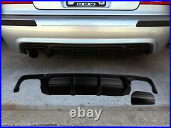 FOR BMW E39 M Sport spoiler diffuser for rear bumper abs plastic 1\2\4 exhaust