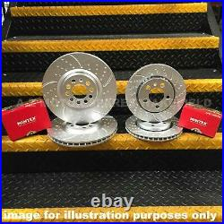 FOR BMW E46 320D 325 CI 328 i M SPORT FRONT REAR GROOVED BRAKE DISCS MINTEX PADS