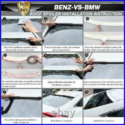 Fits 14-17 Mazda 3 5Dr Hatchback KS Style Rear Roof Spoiler Wing CF