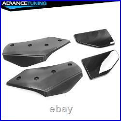 Fits 14-18 BMW F15 X5 M Sport Only Front Bumper Lip & Rear Diffuser Gloss Black