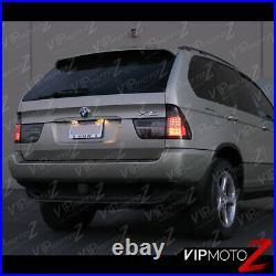 For 00-06 BMW X5 E53 SMOKE+CHROME Tail Light LED Signal Brake Lamp Pair LH RH