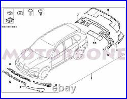 For 07-10 BMW E70 X5 Air Aerodynamic Front Rear Bumper Cover Full Body Kit