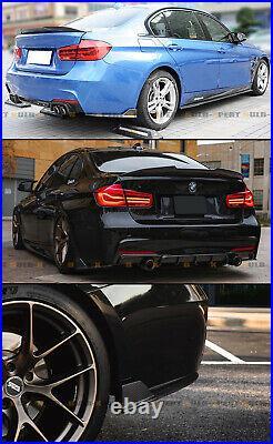 For 12-18 BMW F30 M Sport Carbon Fiber Rear Bumper Side Corner Aprons Extension