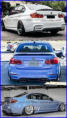 For 13-18 BMW F30 330i 335i F80 M3 Carbon Fiber HighKick PSM Style Trunk Spoiler