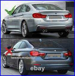For 14-2020 BMW F32 F33 F36 4 Series MP Style Quad Exhaust Rear Bumper Diffuser