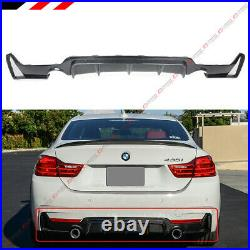 For 14-2020 BMW F32 F36 Carbon Fiber M Sport Rear Bumper Diffuser Dual Exhaust