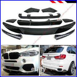 For 15-18 BMW X5 F15 M Sport MP Style Gloss Blk Front + Rear Full Body Aero Kit