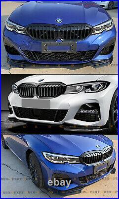 For 19-2021 BMW 3 Series G20 330i M340i M Sport Bumper Glossy Black Lip Splitter
