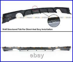 For 2012-18 Bmw F30 Carbon Fiber M Style Rear Bumper Diffuser + Corner Extension