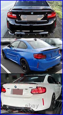 For 2014-2021 BMW F22 2 SERIES F87 M2 CS Style Carbon Fiber Rear Trunk Spoiler