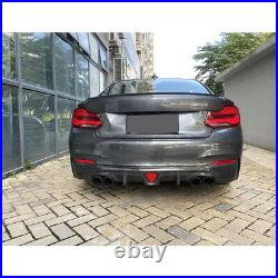 For BMW 2 Series F22 F23 M-Sport Carbon Fiber Rear Bumper Diffuser Lip Spoiler
