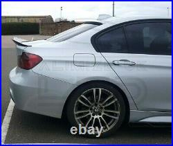 For BMW 3 SERIES F30 F80 M3 M SPORT PSM REAR BOOT SPOILER WING LIP GLOSS BLACK