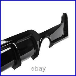 For BMW 4Series F32 F33 F36 14-18 M Performance Sport Glossy Black Rear Diffuser