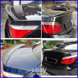 For BMW 5 Series E60 M-Sport M5 Sedan 04-10 Carbon Rear Trunk Lip Spoiler Wing