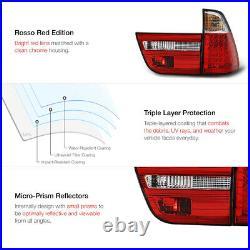For BMW E53 X5 00-06 LED Tail Light Red Lens Clear Rear Brake Running Lamp Pair