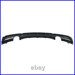 For Bmw 3 Series F30 M-sport Performance Dual Rear Diffuser Valance Carbon Style